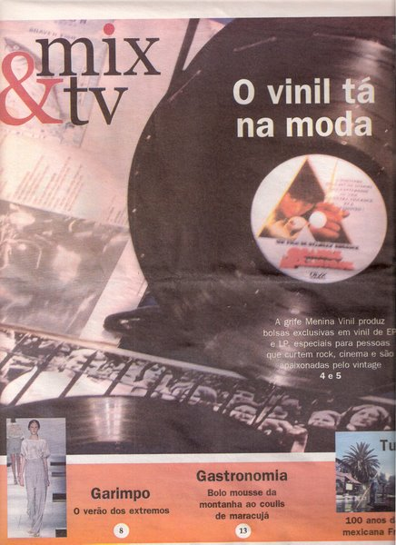 Capa Caderno Mix & TV - Jornal O Nacional